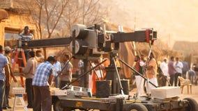 在村庄的印地安电影工作人员 影视素材