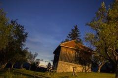 在村庄的夜 免版税图库摄影