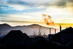 在村庄的日出 免版税图库摄影