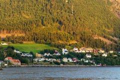 在村庄的日落 免版税图库摄影