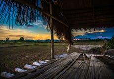 在村庄的看法农业 免版税库存照片