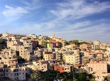 在村庄附近的阿拉伯nazareth 库存照片