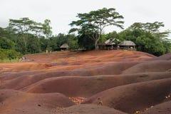 在村庄Chamarel,毛里求斯附近的国家公园 免版税库存照片