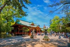 在杜娟花节日期间的Nezu寺庙在东京,日本 免版税图库摄影