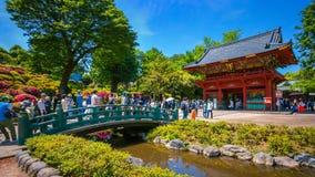 在杜娟花节日期间的Nezu寺庙在东京,日本 库存图片