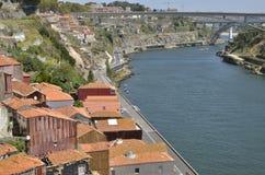 在杜罗河河的桥梁 图库摄影