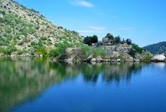 在杜罗河河的风景 库存图片