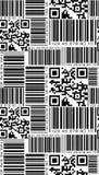 在条形码样式的无缝的样式 免版税库存图片