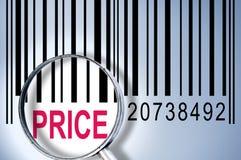 在条形码的价格 免版税库存照片
