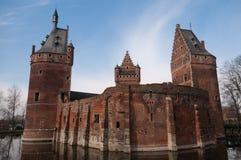 在来自南方的风暴富兰德的贝尔塞尔城堡 库存图片