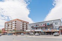 在杨柳的购物中心,布隆方丹的郊区 免版税图库摄影