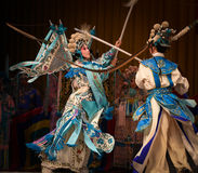 """在杨Family†的战争的北京Opera""""妇女将军 免版税库存照片"""