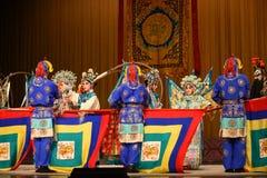 """在杨Family†的街道北京Opera""""妇女将军的繁忙运输 免版税库存照片"""