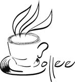 在杯子的咖啡 皇族释放例证
