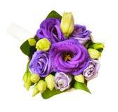 在杯子的紫色南北美洲香草花 免版税库存照片