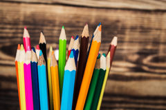 在杯子的颜色铅笔 免版税库存图片