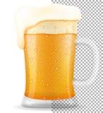 在杯子透明储蓄传染媒介例证的啤酒 库存例证