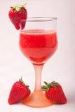 草莓汁 免版税库存照片