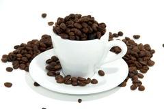 在杯的咖啡豆 免版税图库摄影