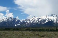 在杰克逊Hole怀俄明附近的Teton山 免版税库存照片