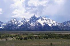 在杰克逊Hole怀俄明附近的Teton山 免版税库存图片
