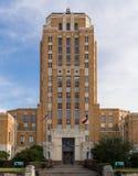 在杰弗逊县法院大楼的塔在博蒙特得克萨斯 库存照片
