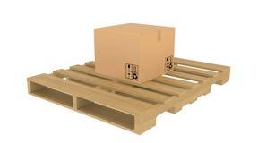 在板台的纸板箱 库存例证