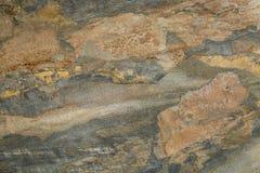 在板岩岩石的抽象风景 免版税库存照片