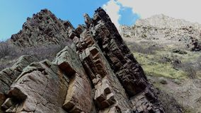 在板岩峡谷的崎岖的露出 免版税图库摄影
