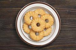 在板材的一种油脂含量较高的酥饼 库存照片