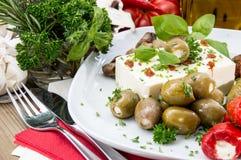 在板材的新鲜的开胃小菜 库存照片