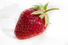 在板材的新鲜的草莓,特写镜头 免版税库存照片