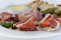 在板材的法国早午餐 图库摄影