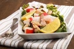 在板材的海鲜salat 免版税库存照片