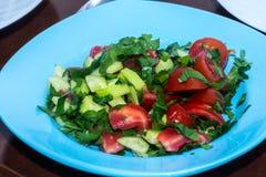在板材的混杂的salat 免版税图库摄影