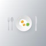 在板材的炒蛋 向量例证