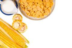 在板材的玉米片 免版税库存照片