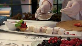 在板材的甜寿司卷 影视素材