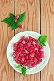 在板材的莓 库存图片