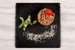 在板材的食物 免版税图库摄影