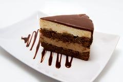 在板材的Chokolate蛋糕 免版税图库摄影