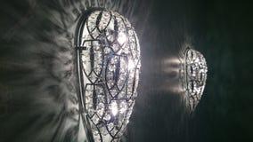 在枝形吊灯样式的玻璃灯 免版税库存图片