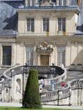 在枫丹白露宫,法国的马掌楼梯 库存照片