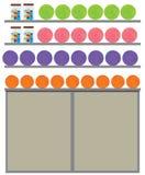 在架子的不同的颜色毛线 库存例证