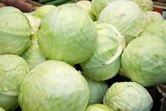 在架子的白椰菜在超级市场 图库摄影