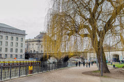 在柏林博物馆岛附近的詹姆斯西蒙公园在柏林 免版税库存照片