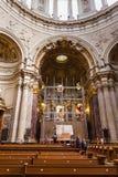 在柏林大教堂柏林大教堂里面 库存图片