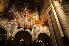 在柏林大教堂里面 免版税库存照片