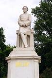 在柏林胜利专栏前面的赫尔穆特・卡尔・贝恩哈特・冯・毛奇雕象在蒂尔加滕,柏林,德国 免版税库存照片