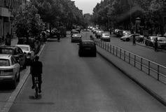在柏林街上的白天 免版税库存图片